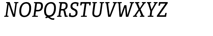 Adelle Condensed Italic Font UPPERCASE