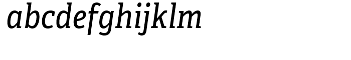 Adelle Condensed Italic Font LOWERCASE