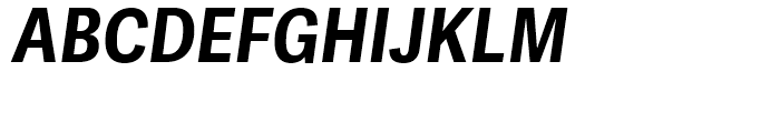 Adelle Sans Condensed Bold Italic Font UPPERCASE