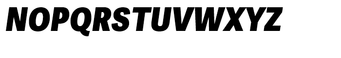 Adelle Sans Condensed Heavy Italic Font UPPERCASE