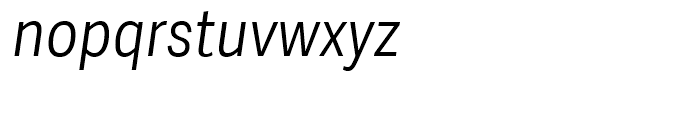 Adelle Sans Condensed Light Italic Font LOWERCASE