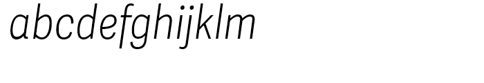 Adelle Sans Condensed Thin Italic Font LOWERCASE