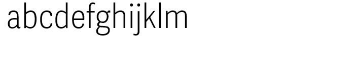 Adelle Sans Condensed Thin Font LOWERCASE