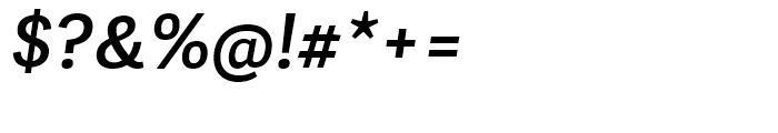Adelle Sans Semibold Italic Font OTHER CHARS