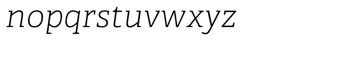 Adelle Thin Italic Font LOWERCASE