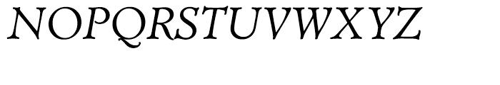 Administer TC Book Italic Font UPPERCASE