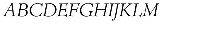 Administer TC Light Italic Font UPPERCASE