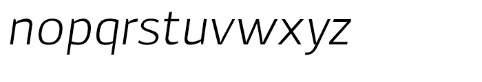 Adonide Light Italic Font LOWERCASE