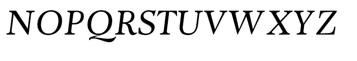 Adriane Text Italic Font UPPERCASE