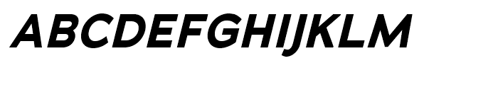 Adrianna Bold Italic Font UPPERCASE
