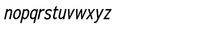 Adrianna Cond Italic Font LOWERCASE