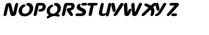 Advance Black Italic Font UPPERCASE