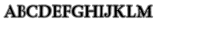 Advantage Lined Font UPPERCASE