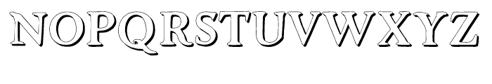 Advantage Shadow Font UPPERCASE