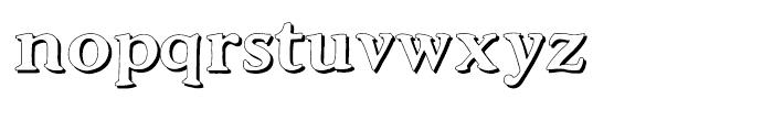 Advantage Shadow Font LOWERCASE