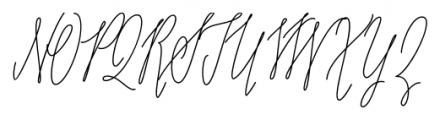 Adalberta Monoline Font UPPERCASE