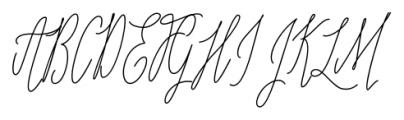 Adalberta Pro Monoline Font UPPERCASE