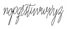 Adalberta Pro Monoline Font LOWERCASE