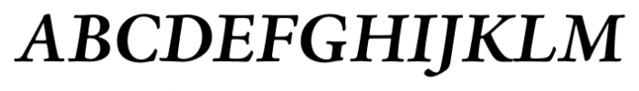 Adobe® Jenson™ Pro Bold Italic Font UPPERCASE