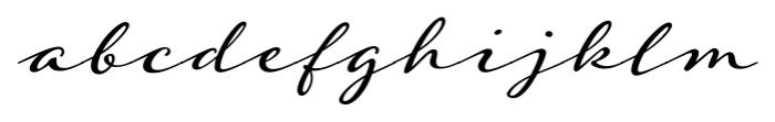 Adorn Garland Smooth Regular Font LOWERCASE