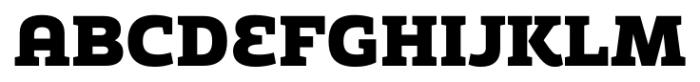 Adria Slab UprightItalic Black Font UPPERCASE