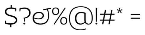 Adria Slab UprightItalic Extra Light Font OTHER CHARS