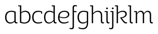 Adria Slab UprightItalic Extra Light Font LOWERCASE