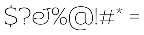 Adria Slab UprightItalic Thin Font OTHER CHARS