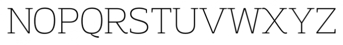 Adria Slab UprightItalic Thin Font UPPERCASE