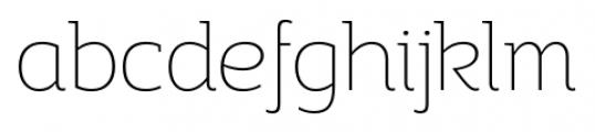 Adria Slab UprightItalic Thin Font LOWERCASE