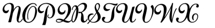 Adage Script JF Font UPPERCASE