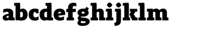 Adagio Slab Heavy Font LOWERCASE