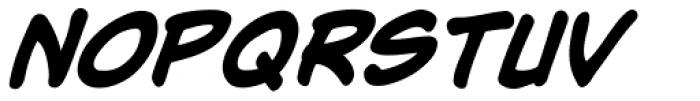 Adam Kubert Bold Italic Font LOWERCASE