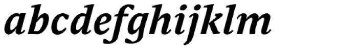 Adam Serif Bold Italic Font LOWERCASE