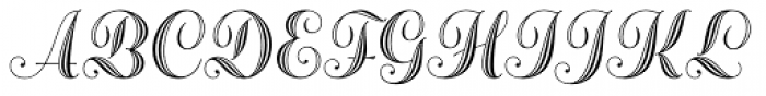 Adana AS Initials A Font UPPERCASE