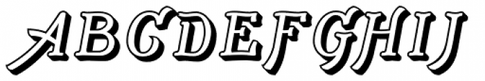 Adantine Embossed Font UPPERCASE