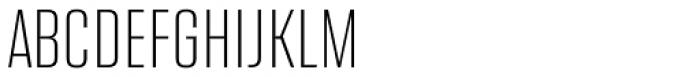 Address Sans Pro Cd Extra Light Font UPPERCASE