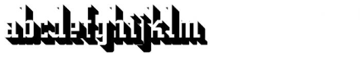 Addressotype Slab Shadow Font LOWERCASE