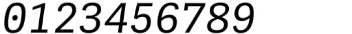 Adelle Mono Flex Italic Font OTHER CHARS