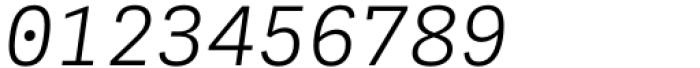 Adelle Mono Flex Light Italic Font OTHER CHARS