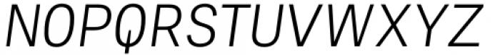 Adelle Mono Flex Light Italic Font UPPERCASE