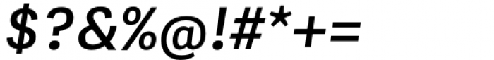 Adelle Mono Flex Semibold Italic Font OTHER CHARS