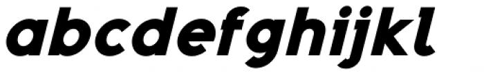 Adequate Black Italic Font LOWERCASE