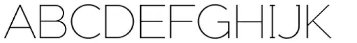 Adequate ExtraLight Font UPPERCASE