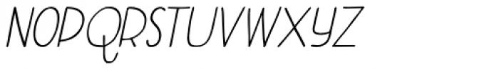 Aderyn Italic Font LOWERCASE
