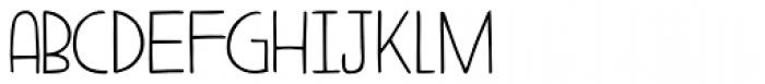 Aderyn Font LOWERCASE