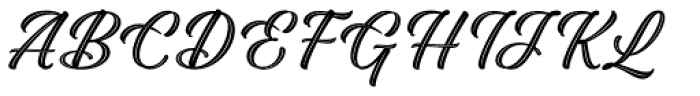 Adinah Inline Font UPPERCASE