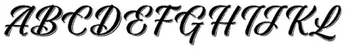 Adinah Rough Shade Font UPPERCASE