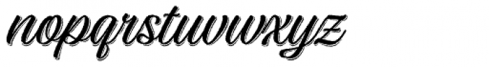 Adinah Rough Shade Font LOWERCASE