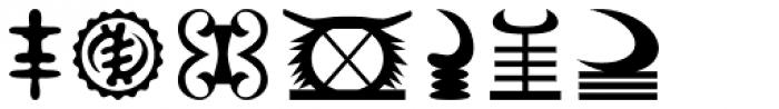 Adinkra Symbols Font OTHER CHARS